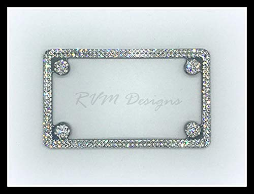 Motorcycle License Plate Frame made with Swarovski Crystals - Motorcycle Jewelry ()