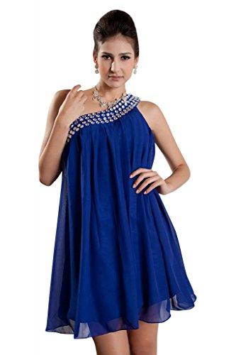 Blau Abendkleid Chiffon Blau BRIDE Eine Schulter GEORGE wxnPq6CWnc