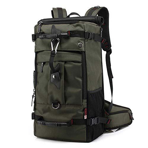 KAKA Men Backpack Travel Bag Large Capacity 40L Outdoor Mountaineering Multifunctional Waterproof Backpack Women Luggage Bags (army green)