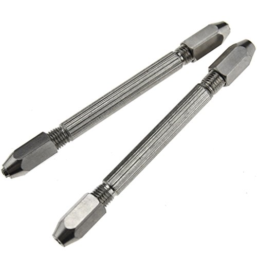 (2 x Hexagonal Double Ended Pin Vice Wire Twisting Jewelry Design Repair Tool )