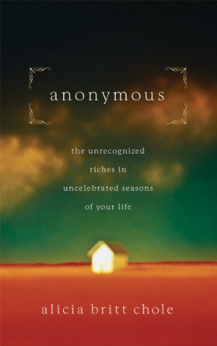 Anonymous: Jesus' hidden years...and yours ()
