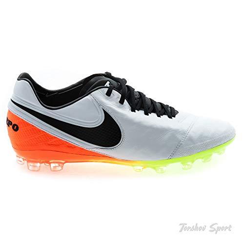 8c4f8febb3af4 Nike Men's Tiempo Legend VI AG-R Soccer Shoe (7.5 D(M) US,  White/Black-Total Orange-Volt)