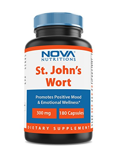 Nova Nutritions St Johns Wort 300 mg 180 Capsules - also called saint johns wort (Wort 180 Capsule)