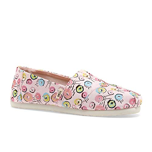 TOMS Kids Girl's Alpargata (Little Kid/Big Kid) Pink Donuts Print 3 M US Little Kid ()