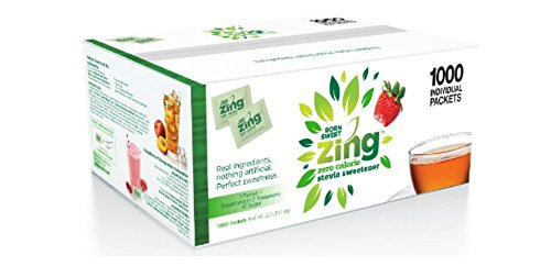 Born Sweet Zing Zero Calorie Stevia Sweetener Packets - 1 Pack, 1000 Packet Count