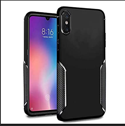 Ferilinso Case for Huawei Y6 2019 / Y6 Pro 2019 / Honor 8A,Fashion Design Carbon Fiber Design Cover Hybrid Defender Scratch Resistant Anti Shock ...