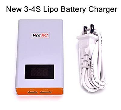 YoungRC 3-4S Lipo Battery Charger 40W 11.1V 14.8V Battery Balance Charger with ABS and Fireproof Shell for RC FPV Drone Quadcopter