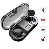 Lintelek Wireless Earbuds, Deep Bass True Wireless Stereo Earphones, Instant Pairing Noise Cancelling Headsets with Built-in Mic, 20 Hours Music Time with Portable Charging Case Wireless Headphones