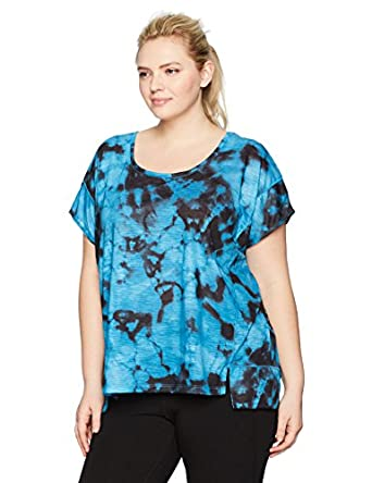 Fruit of the Loom Women's Plus Size Fit Active Poncho 2fer Top