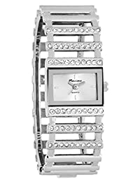 Marciano Women's | Fashion Silver-Tone With Rhinestone Ladder Bracelet Watch | FH0025