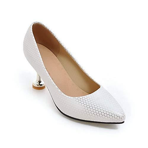 Argenté SDC05642 Sandales Silver 36 Femme AdeeSu 5 Compensées fTIxqwH
