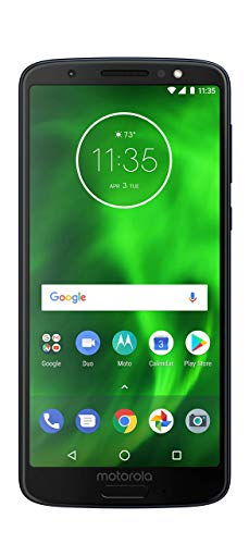 Motorola G6 (XT1925) 32GB GSM Unlocked Android Smartphone (AT&T/T-Mobile/Mint) - Black (Renewed)