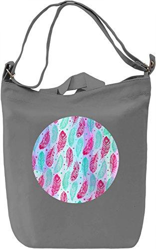 Colourful Feathers Borsa Giornaliera Canvas Canvas Day Bag| 100% Premium Cotton Canvas| DTG Printing|