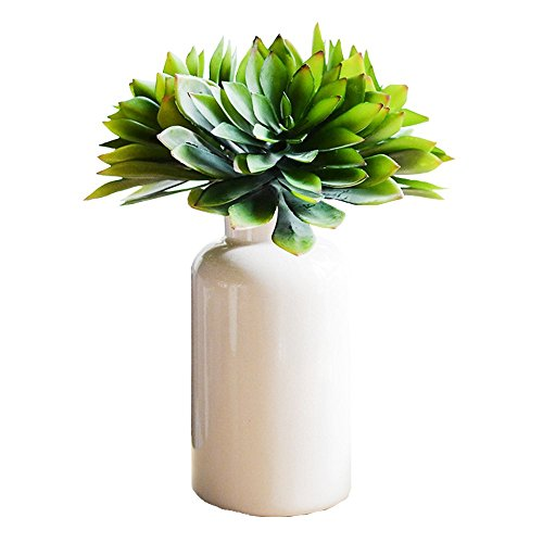 Conjugal Bliss 3 Branch Succulent Plants Large Hibiscus Lotus Flowers Artificial Plant Decorated In The Garden Family Mother's Day Gift Wedding Simulation Plants Flower (green)