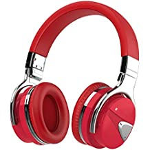 Active Noise Cancelling Headphone Bluetooth Headphones with Microphone, Stereo Wireless Headset with Microphone & Comfortable Earpads & 12 Hours Playtime & Wireless Headphones for Cellphone/Tablet