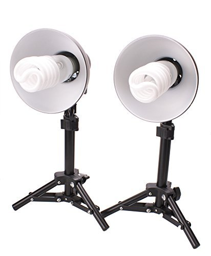 Fovitec  StudioPRO - 2x Product Photography Fluorescent Lamp Lighting Kit - [2x][CFL][Lamps and Bulbs Included]