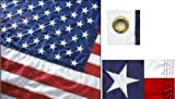 PREMIUM Perma-Nyl Nylon American Flag - 3x5'. Made in the USA