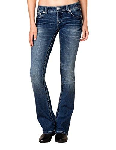 Wash Slim Bootleg Jeans - 9
