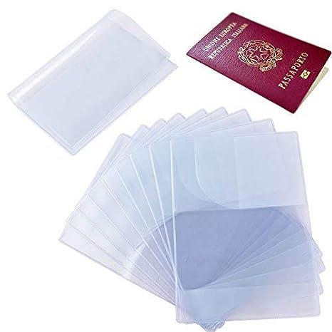 10pcs Funda de Pasaporte Transparente Cubierta de Pasaporte ...