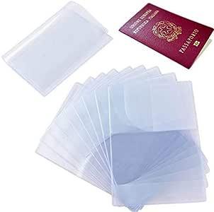 10pcs Funda de Pasaporte Transparente Cubierta de Pasaporte (13.3x18.8cm) Protector Pasaporte PVC Porta Pasaportes de Viajes Multi-Runuras Pack para Familia: Amazon.es: Equipaje