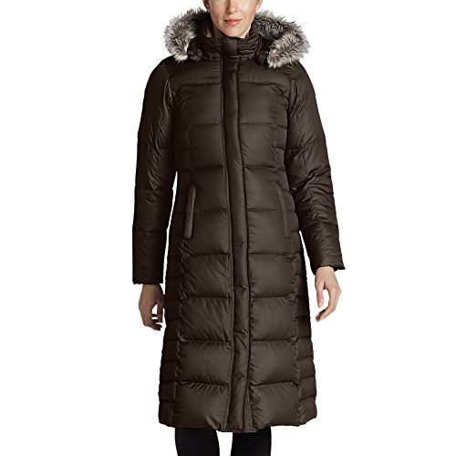 Eddie Bauer Women's Lodge Down Duffle Coat, Cocoa M (Brown Down Women Coats)