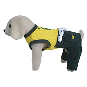 UP Collection Playful Frog Swimming Trunks with Tank Top for Dogs, Green, Small