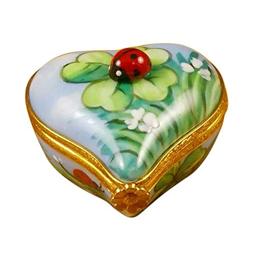 Ladybug ON Heart - French Limoges Boxes - Porcelain Figurines Collectible Gifts