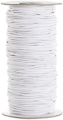 White Elastic Ribbon for Sewing and Crafts Stretchy Cord for Skirts and Trousers Waistbands 5 Metre Long Spool of Elastic Flat Band for Clothing Trimming Shop 25mm Wide