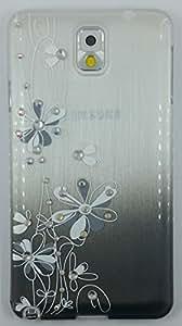 """Crystal Fashion"" Crystal Studded Lovely Flower Cartoon Hard Shell Cover for Samsung Galaxy Note 3 (YYLSZ-N3-2)"