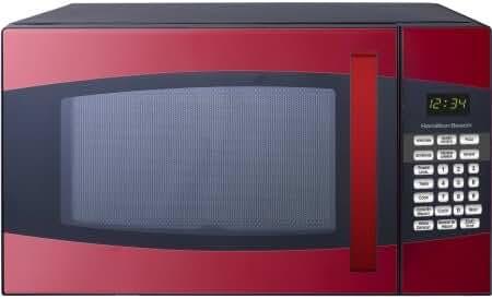 Hamilton Beach 0.9-cu. ft. Microwave Oven, Model:P90D23AL-XFR/color:Black/Red