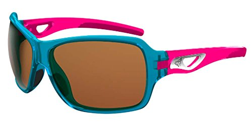 Ryders Eyewear Carlita Crystal Blue Frame Polycarbonate Brown/Silver Flash Lens