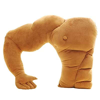 Tomaibaby Muscle Man Body Arm Plush Pillow Boyfriend Husband Cuddle Buddy Pillow Joke Toy Gag Gift for Girlfriend Birthday Party Gift: Home & Kitchen