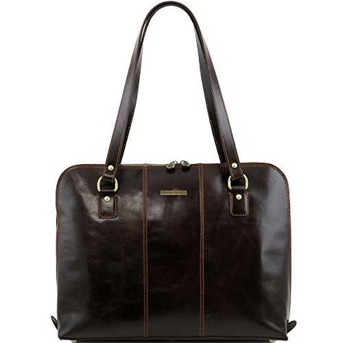 Tuscany Leather Ravenna Exclusive lady business bag Dark Brown by Tuscany Leather