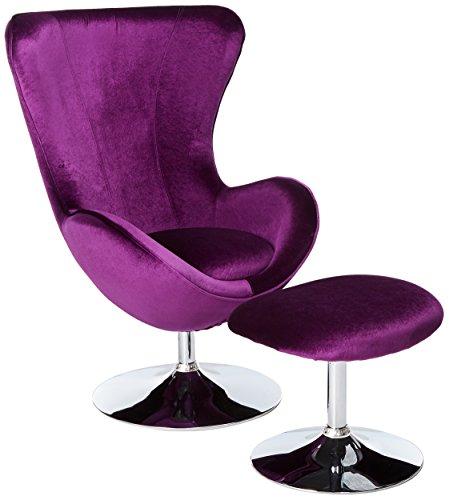 247SHOPATHOME IDF-AC6841 Living-Room-Chairs, Purple