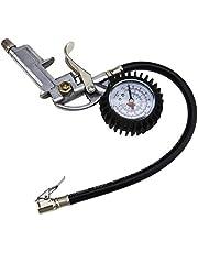 Car Van Truck Tyre Tire Air Line Inflator Dial Pressure Meter Gauge Compressor for Chuck Cars Trucks 220 PSI