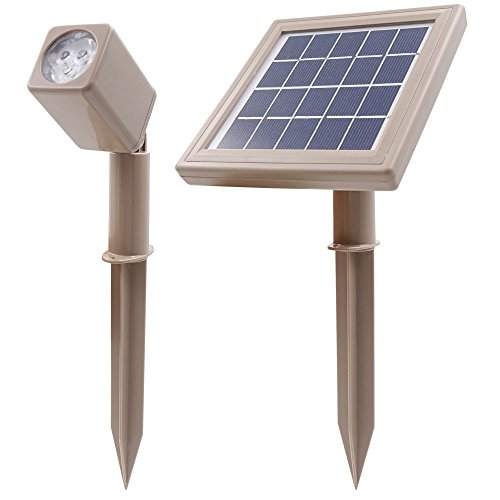 HEX 50X Single Solar Spotlight Warm White LED for Outdoor Garden Yard Landscape Downlight by Solar Light Mart