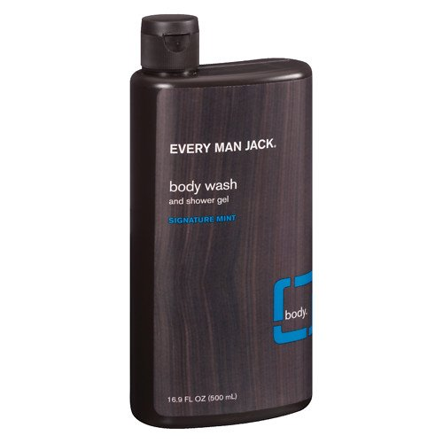 Body Wash and Shower Gel, Signature Mint 16.9 oz (500 ml) by Every Man Jack (Pack of (Body Mint Mint Shower Gel)