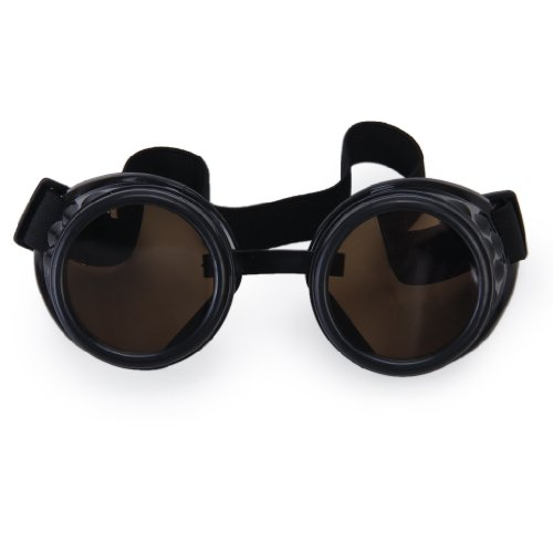 MagiDeal Vintage Rustic Cyber Goggles Steampunk Welding Goth Cosplay Photos - Black at Amazon Mens Clothing store: