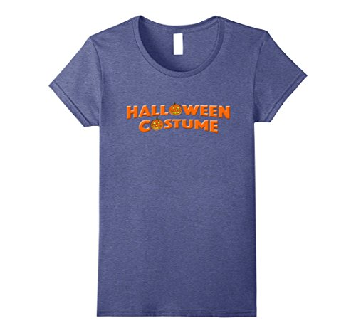 Womens Halloween Costume Tee Last Minute Halloween Party T-shirt Small Heather Blue