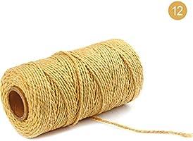 HEALLILY Cuerda de Hilo de Algodón de 4 Rollos Hilo de Algodón ...