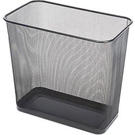 Rubbermaid Commercial FGWMB30RBK Concept Collection Steel Mesh Open-Top Waste Basket, 7.5-gallon, Black ()