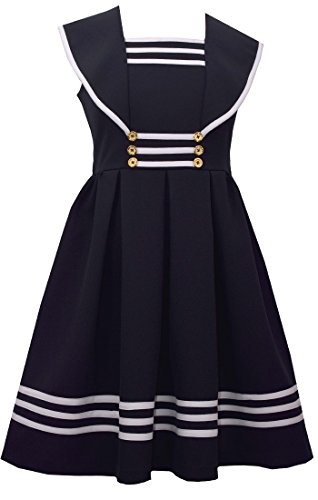 Sailor Dress - Bonnie Jean Girl's Sailor Collar Gold