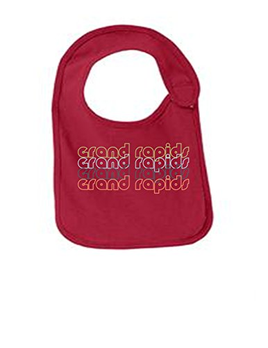Grand Rapids Michigan Retro Funny Infant Jersey Bib Red One Size Red River Winery