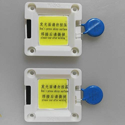 Emitting Color: 50w, Wattage: Warm White Jammas KINLAMS 10pcs AC220V Ceramic AC COB Integrated Driver IC Dimmable 7W 9W 30W 50W LED Bulb Downlighs Outdoor Floodlights for DIY
