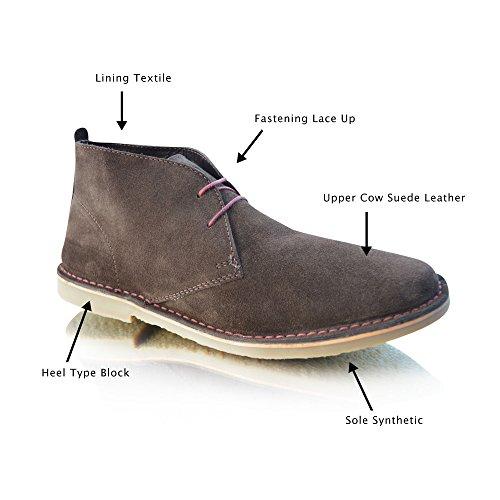 Ikon ,  Unisex-Erwachsene Desert Boots Schokobraun