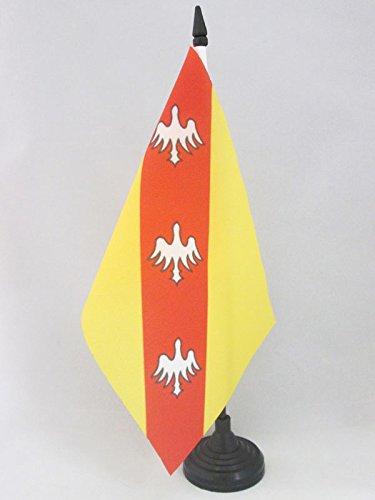 AZ FLAG Drapeau DE Table Lorraine 21x14cm - Petit Drapeaux DE Bureau Lorrain - France 14 x 21 cm