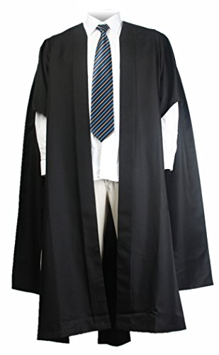GraduationMall Unisex UK Fluted Bachelor Graduation Gown Black XXX-Large 60 by GraduationMall