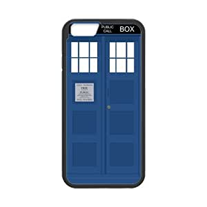iPhone 6 Case, Police Box Public Call TARDIS Black TPU Frame & PC Hard Back Protective Cover Bumper Case for Iphone 6 (4.7) ()