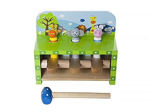 Holzspielzeug Holzhammer Schlagen Klopf- & Hämmerspielzeug Pop-Up Safari von Mousehouse Geschenke