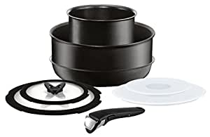 Tefal Ingenio Performance 8 Pieces Cookware Set L6549372 Stackable and Versatile pots and Pans with Removable Handle